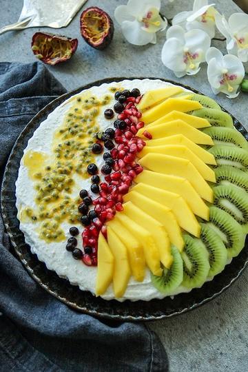 Rezept Kühlschranktorte mit Joghurt, Quark und frischem Obst