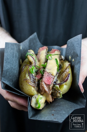 Rezept Kumpir Philly Cheese Style - Gefüllte Kartoffel