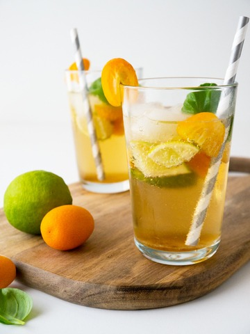 Rezept Kumquat Basil Ginger Limeade