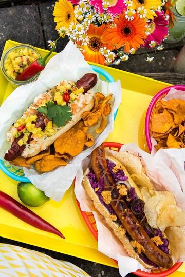 Rezept Kunterbunte Hot Dogs