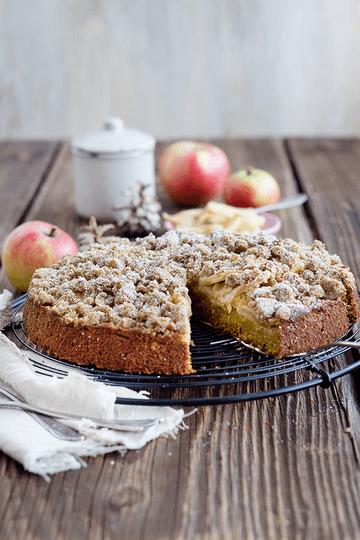 Rezept Kürbis-Apfel-Streuselkuchen