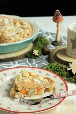 Rezept Kürbis-Apfel Tarte mit Schmandguss