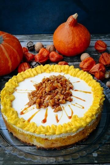 Rezept Kürbis-Cheesecake mit Walnüssen