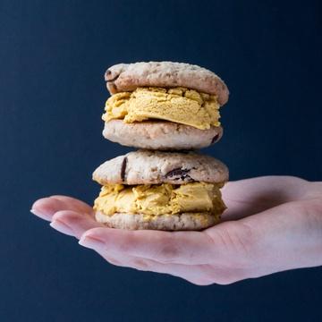 Rezept Kürbis-Cookie-Eis-Sandwich