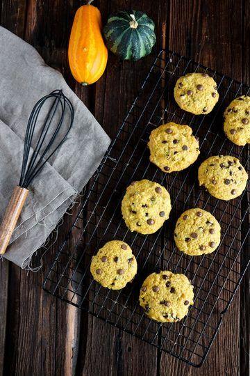 Rezept Kürbis Cookies Rezept mit Schokodrops