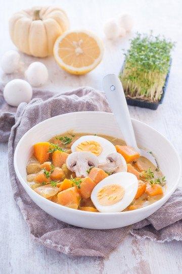 Rezept Kürbis-Curry mit Ei