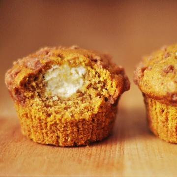 Rezept Kürbis-Frischkäse-Muffins mit Zimtstreuseln