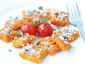 Rezept Kürbis Gnocchi mit Thymian Butter