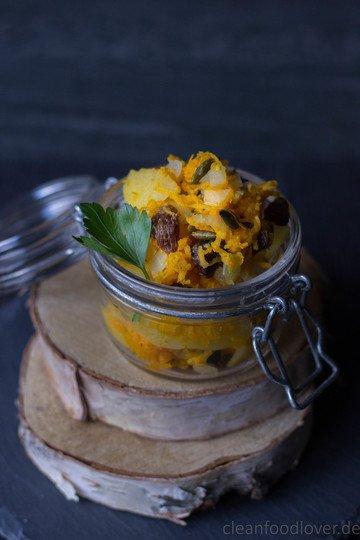 Rezept Kürbis-Kartoffel-Salat | vegan & ayurvedisch