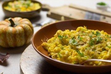 Rezept Kürbis-Käsespätzle vegan