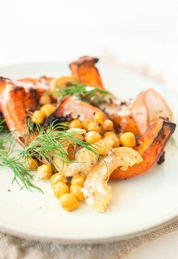Rezept Kürbis-Kichererbsen-Salat