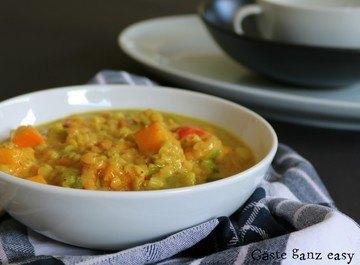 Rezept Kürbis-Linsen-Suppe