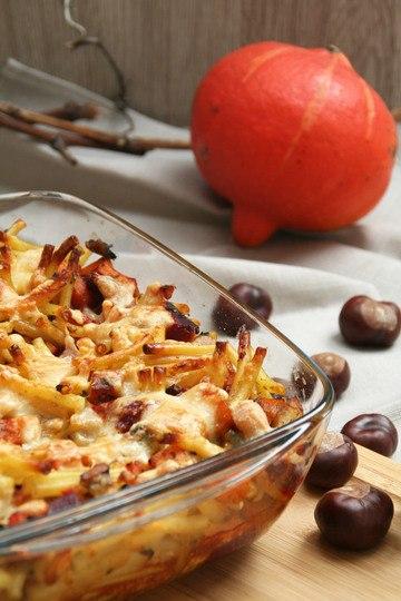 Rezept Kürbis-Maccaroni-Auflauf mit Pumpkin-Spice