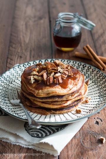 Rezept Kürbis-Pancakes mit Zimtbutter