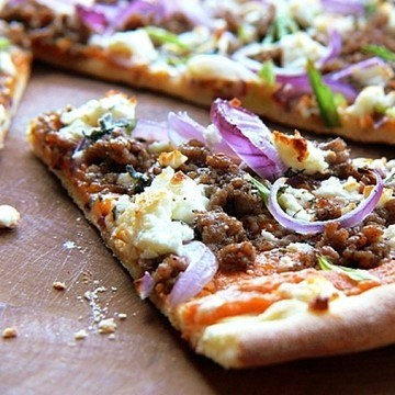 Rezept Kürbis-Pizza mit Hackfleisch