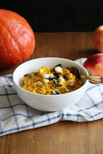 Rezept Kürbis - Porridge mit Äpfel, Zimt und Kardamom