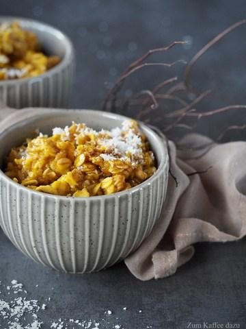 Rezept Kürbis-Porridge mit Kokosmilch und Zimt
