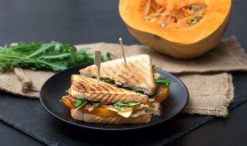 Rezept Kürbis-Sandwich mit Bacon und Rucola
