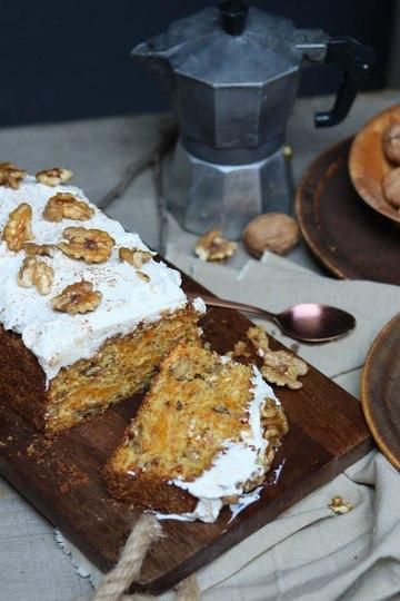 Rezept Kürbis-Walnuss-Brot mit Zimtfrosting