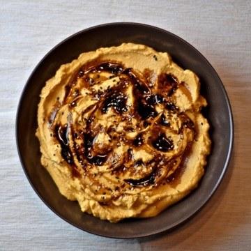 Rezept Kürbisdip aus Butternutkürbis mit Tahini