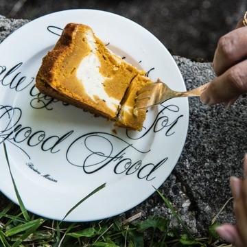 Rezept Kürbisgewürzkuchen mit Ricotta Cheesecake Füllung