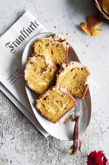 Rezept Kürbiskuchen mit Frischkäse Swirl