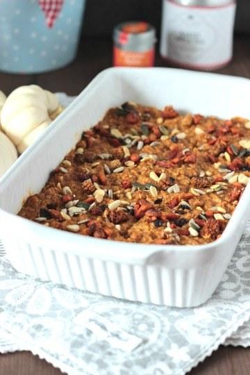 Rezept Kürbiskuchen Ofen-Porridge