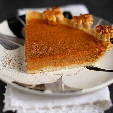 Rezept Kürbiskuchen - tarte à la courge - pumpkin pie (französisch)