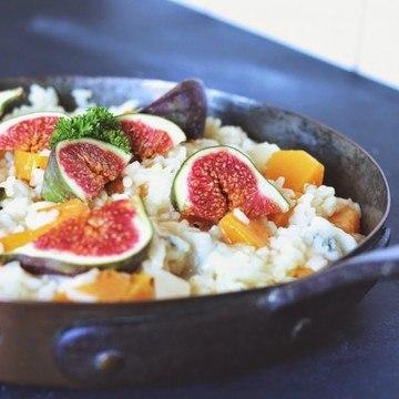 Rezept Kürbisrisotto mit Gorgonzola und frischen Feigen