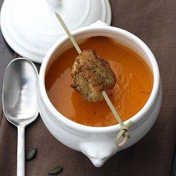 Rezept Kürbissuppe mit Jakobsmuschel