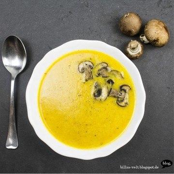 Rezept Kürbissuppe mit Quitte & Champignons