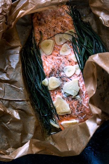 Rezept Lachs mit Barba di Frate