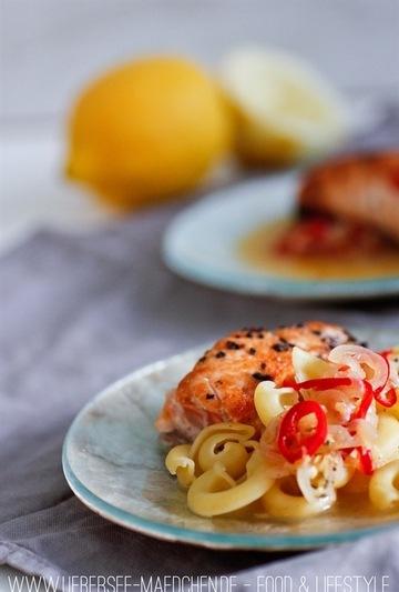 Rezept Lachs mit leichter Zitronensauce