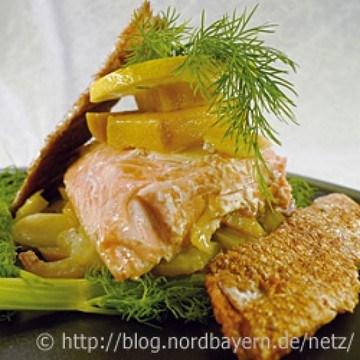Rezept Lachs mit Mango und Fenchel aus dem Backofen