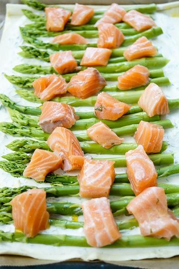 Rezept Lachs-Spargel-Tarte mit Blätterteig