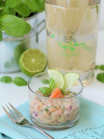 Rezept Lachs Tatar mit Basilikum Gin