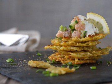 Rezept Lachs-Tatar mit Ofenrösti