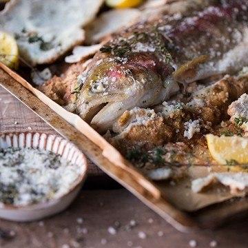 Rezept Lachsforelle in Salzkruste