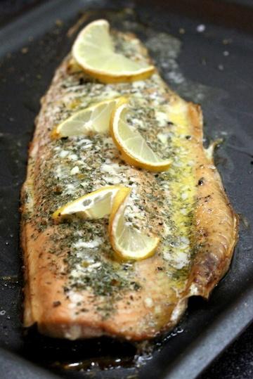 Rezept Lachsforellen Filet aus dem Ofen