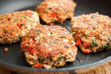 Rezept Lachsfrikadelle mit Quinoa