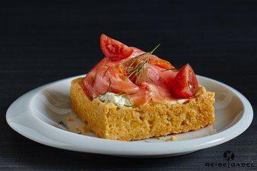 Rezept Lachstartelette mit Honig-Senf-Dill Creme
