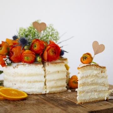 Rezept Laktosearme Hochzeitstorte mit Orangen-Schoko Aroma