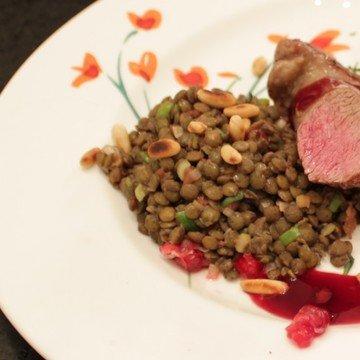 Rezept Lamm, Granatapfel und Linsen