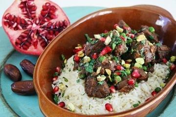 Rezept Lamm Tajine mit Datteln & Granatapfelsaft