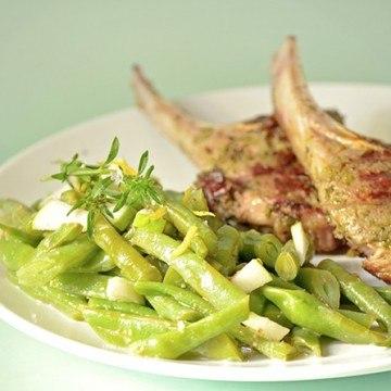 Rezept Lammkoteletts in Kräutermarinade mit Bohnensalat