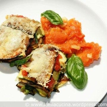 Rezept Lasagne aus Auberginen, Zucchini und Tomaten