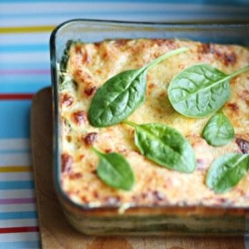 Rezept Lasagne mit Spinat und Bechamelsauce