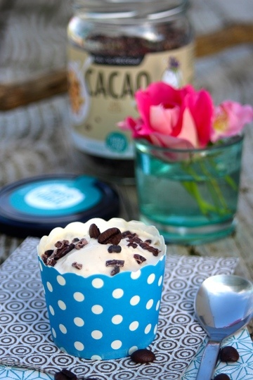 Rezept Latte Macchiato-Eis mit dulce de leche und echten Kakaosplittern