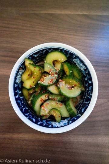 Rezept Lauwarmer Gurkensalat
