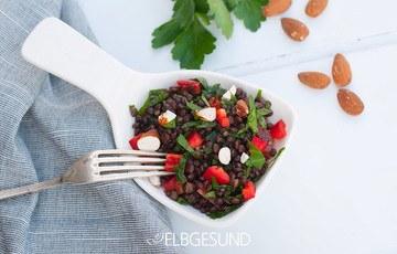 Rezept Lauwarmer Linsensalat – die Rettung, wenn der kleine Hunger kommt!